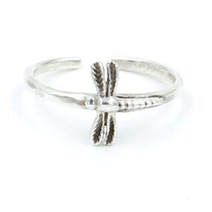 *Dragonfly Toe/Midi Finger Ring Solid 925